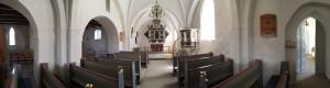 Inside Svallerup kirke