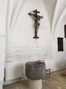 Svallerup Kirke baptismal font